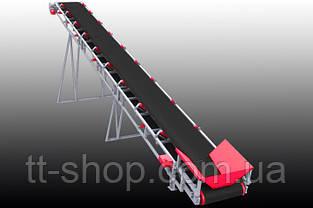 Ленточный желобчатый конвейер длинной 1 м, ширина ленты 1000 мм, фото 2