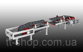 Ленточный желобчатый конвейер длинной 2 м, ширина ленты 1000 мм, фото 2