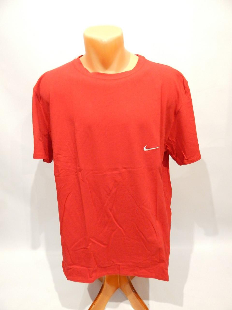 Мужская футболка Nike реплика р.54  008Ф красная