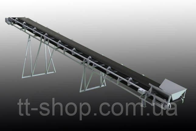 Ленточный желобчатый конвейер длинной 8 м, ширина ленты 1000 мм, фото 2