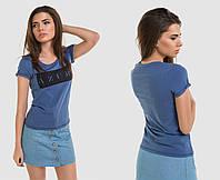 Футболка женская синия (2 цвета) ОД/-5411 , фото 1