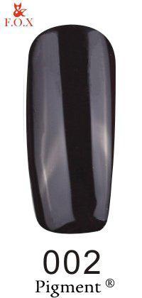 Гель-лак F.O.X. Pigment №002 Чёрный 6 ml