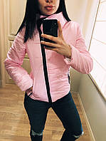 """Куртка демисезонная женская """"Ариэла""""  Распродажа розовый, 42"""