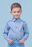 Классическая рубашка для мальчика Zironka, голубой (р.92,98,104,116)