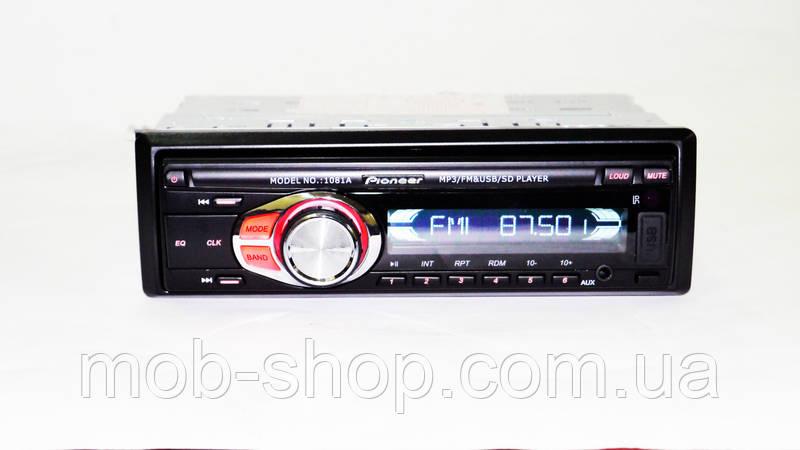 Автомагнитола пионер Pioneer 1081A съемная панель USB+SD+AUX