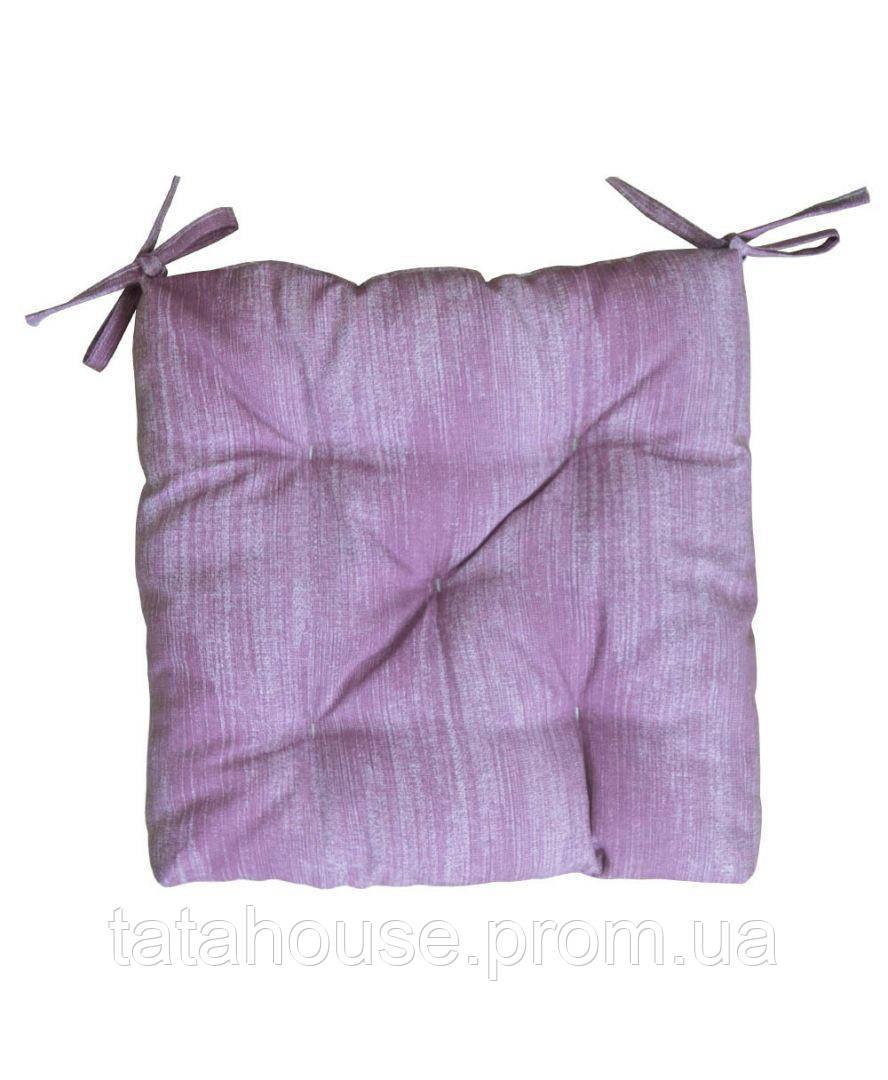 Подушка на стул лонета фиолетовая 40х40