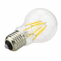 Светодиодная прозрачная лампочка 8Вт E27 A55 LM718 4500K , фото 1