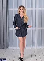 Женское платье-туника нарядное джинс 42 44 46 48 размер новинки опт розница