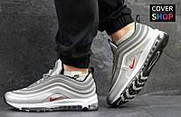 Кроссовки мужские Nike Air Max 97, материал - кожа+сетка, серые