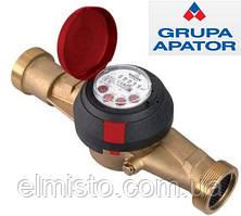 """Водомеры Apator Powogaz JS-130-10 ГВ (ДУ-32) 1 1/4"""" на горячую воду крыльчатые сухоходы для домов"""