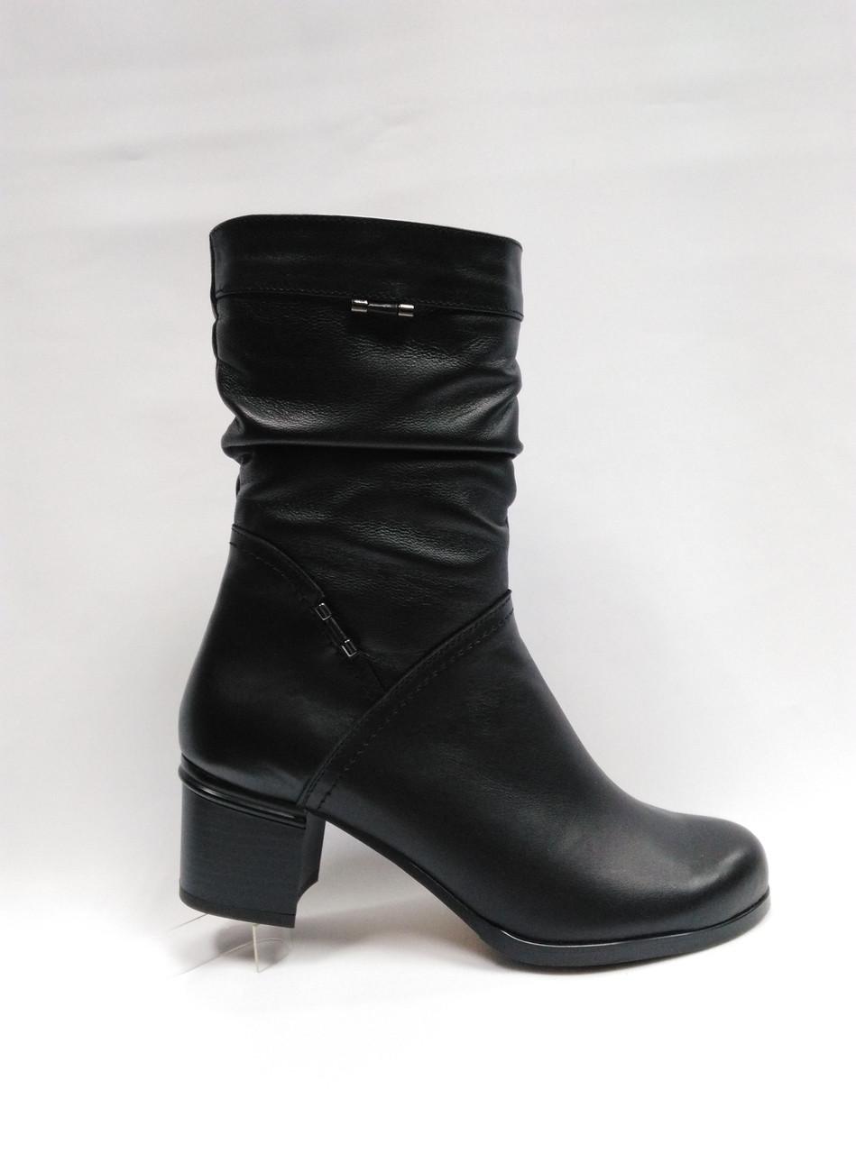 Черные кожаные сапожки. Большие ( 41 - 43 ) и стандартные (36 - 40) размеры. Украина.
