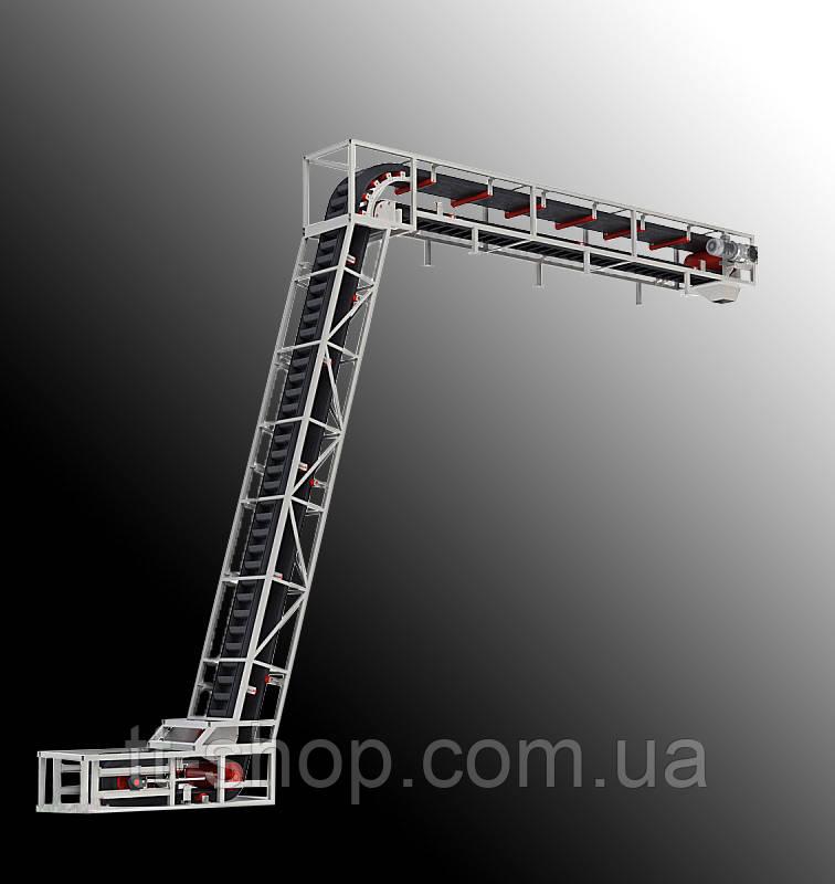 Ленточный конвейер длинной 9 м, ширина ленты 600 мм