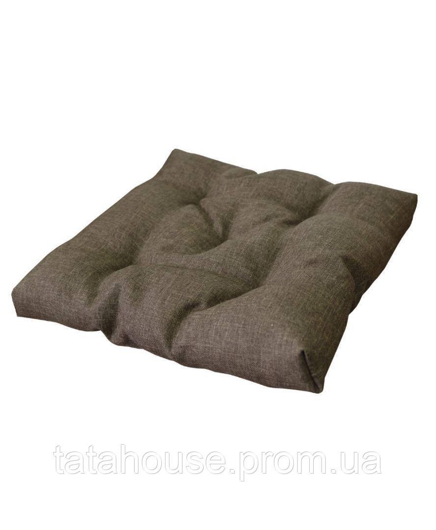 Подушка на стул TWIST Коричневая 40х40