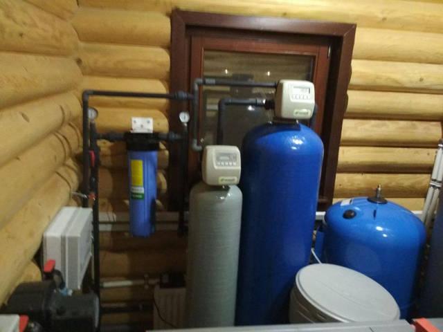 Установка очистки воды в большом загородном коттедже 1