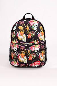 Шкільний рюкзак спортивний Urban Planet B10 SKOOLS'N'FLOWERS 25 л. 46x33x12см. різнокольоровий з черепами