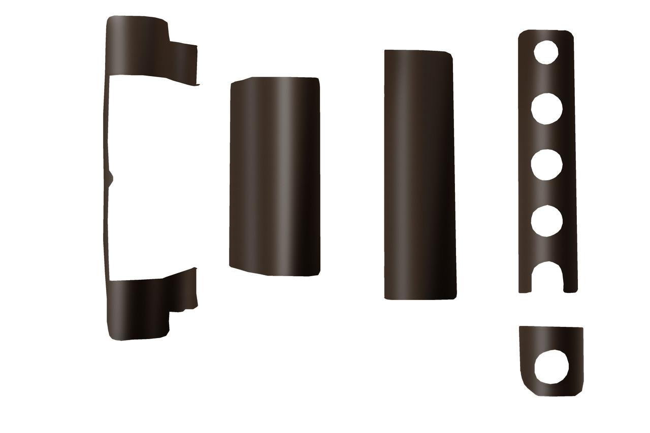 Декоративные накладки Vorne коричневые
