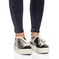 Туфли-мокасины из натуральной кожи на танкетке, шнурки. Два цвета! Размеры 36-41, модель S1060