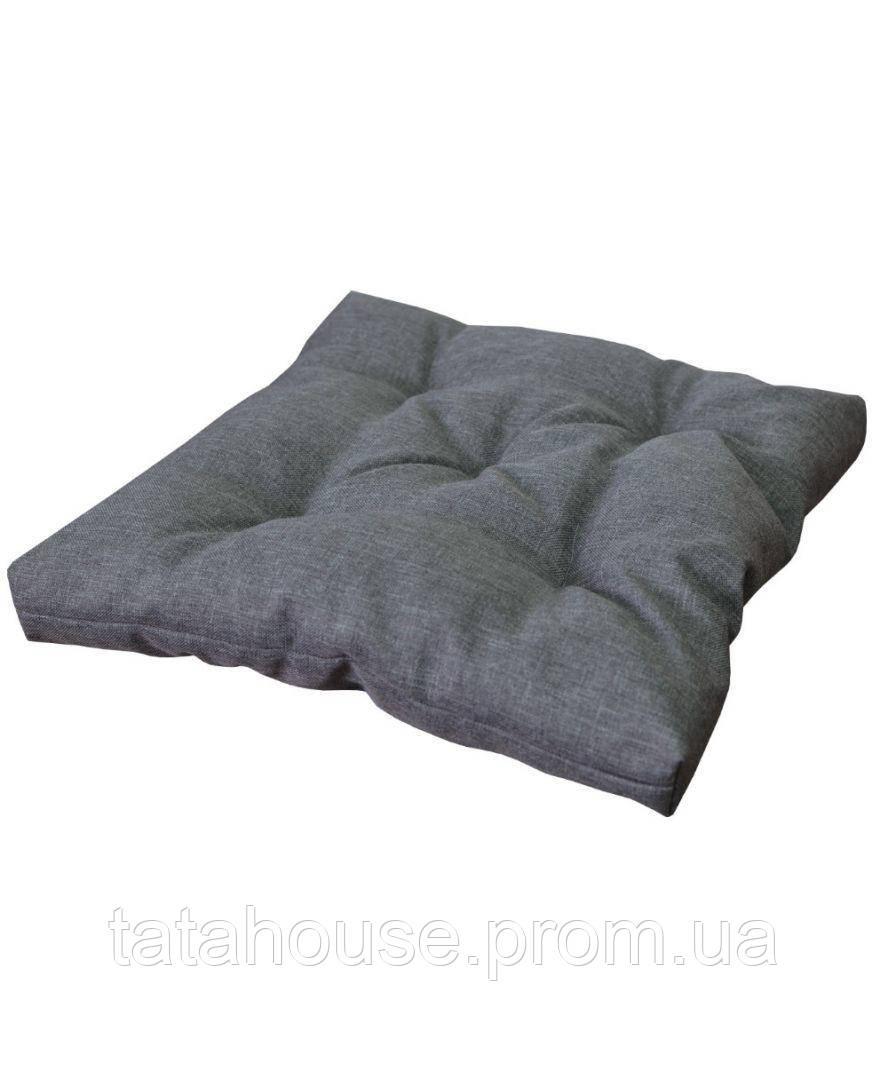 Подушка на стул TWIST Серая 40х40