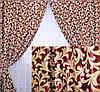 Комплект готовых штор  блэкаут, двусторонний. Цвет бордовый 073ш (А) 2 шторы шириной по 1м.