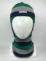 Весенняя шапка-шлем для мальчика 1511-33