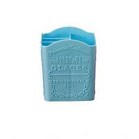 Подставка пластиковая для кистей, инструментов, голубая