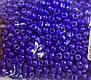 Бисер крупный №6, фиолетово-синий, матовый., фото 2