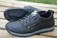 Кожаные кроссовки Columbia черные мужские