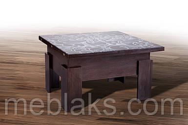 """Стол-трансформер """"Дельта"""" для кухни со стеклом  Микс Мебель"""