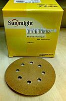 Абразивный диск Sunmight Gold - P120, D125, 8 отверстий.