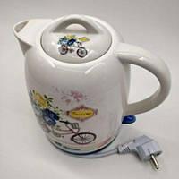 Электрический дисковый чайник керамический Domotec MS-2801, фото 1