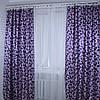 """Комплект готовых штор  блэкаут """"Вензель"""" двусторонний. Цвет фиолетовый  184ш (А), фото 5"""