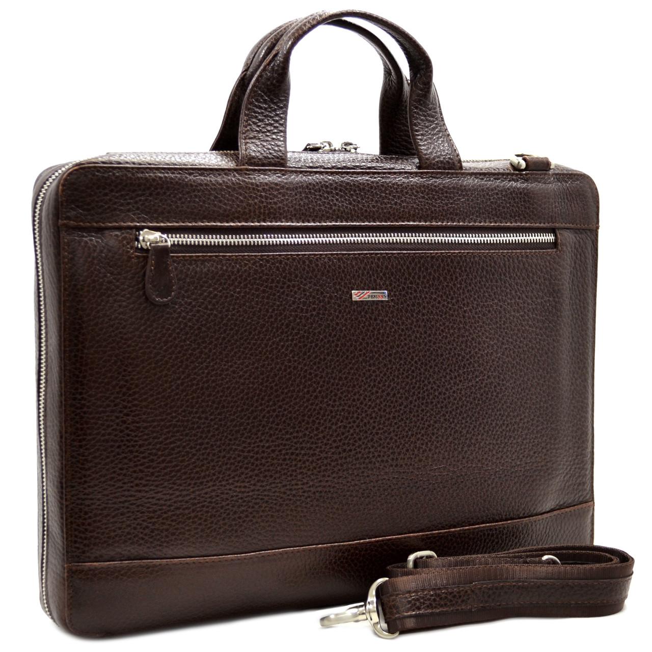 Кожаная мужская сумка для документов Desisan