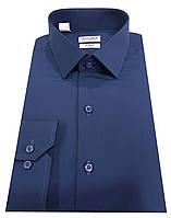 Рубашка мужская синяя №10-12к.- Поплин 49