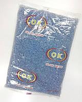 Бисер мелкий №10, снежно-голубой, прозрачный.