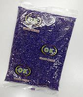 Бисер мелкий №10, фиолетовый, прозрачный, жемчужный.