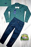 Костюм для мальчика зеленая рубашка Armani и брюки, фото 1