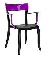 Кресло Papatya Hera-K черное сиденье