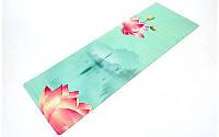 Коврик для йоги и фитнеса Zelart 2-х сл. замша/каучук 3 мм. FI-5662-27, фото 1