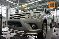 Защита переднего бампера Toyota Hilux (2015-) / Toyota Fortuner (2017-) (двойная) d76/60