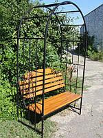 Садовая лавка с аркой