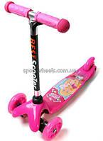 Детский самокат для девочки Барби Розовый   BestScooter Mini Barbie