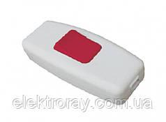 Выключатель для бра Luxel белый с красной кнопкой