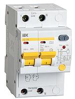 Дифференциальный автоматический выключатель АД12М 2Р C63 30мА IEK