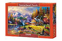 Пазли Будиночок в горах 1500 елементів Castorland