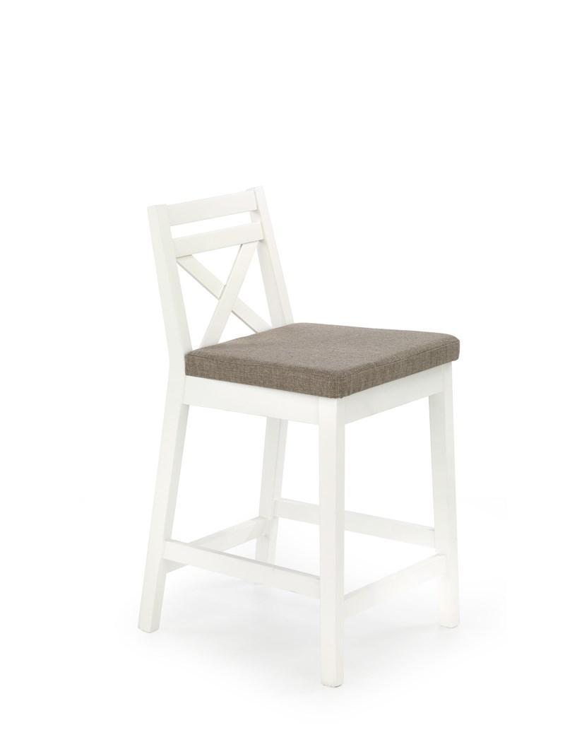 Барный стул BORYS LOW белый Halmar