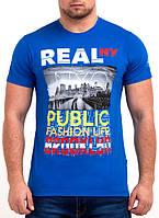 Мужская футболка REAL (норма) синий