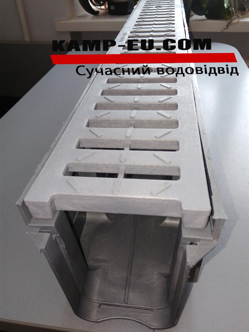Линейный водоотвод 100см серый 150\АБС