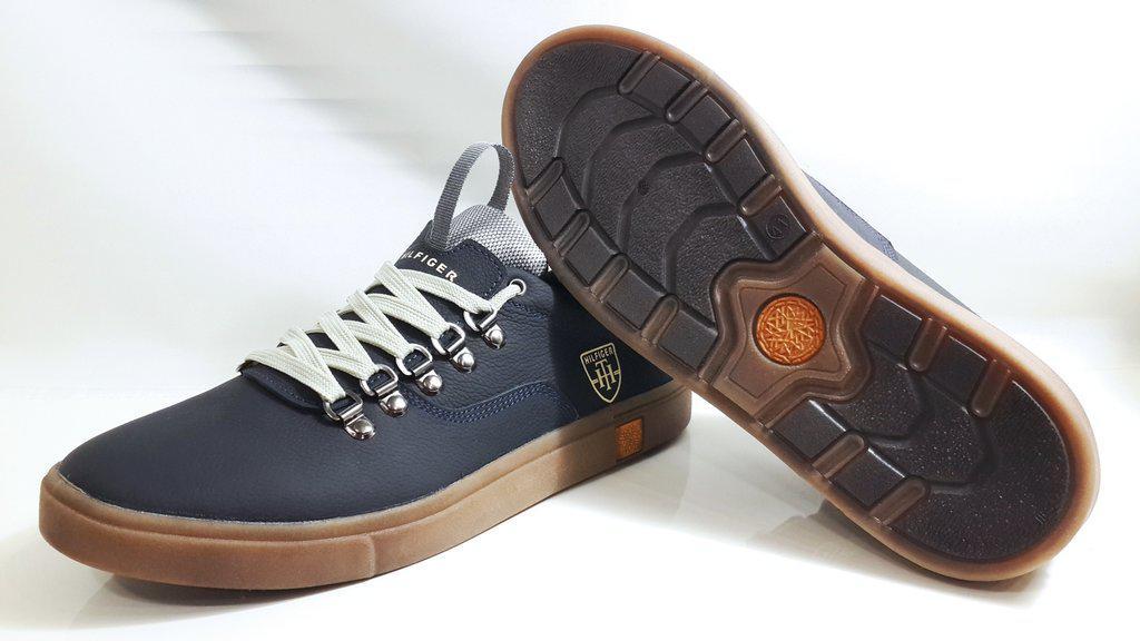 ... Мужские кожаные кеды TOMMY HILFIGER model M-23, качество, синие, ... d4cf2fb943a