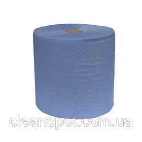 Промышленная протирка бумажная голубая 3слоя 1000 отрывов 37см Eco Point