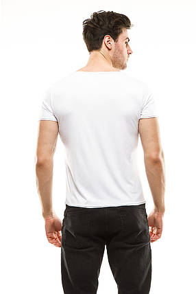 Футболка мужская 394 белая, фото 2